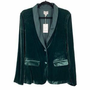 NEW Cami NYC The Emmie Stretch Silk Charmeuse-Trimmed Velvet Blazer